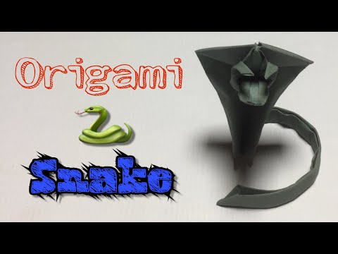 Origami Snake || How to make a paper snake || DIY