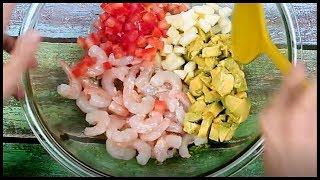 Cócktail de Camarones y Palta