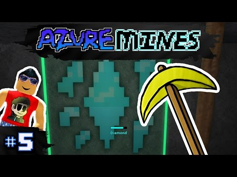 Azure Mines Ep. 5: Gold Pickaxe Mining Diamonds! | Roblox