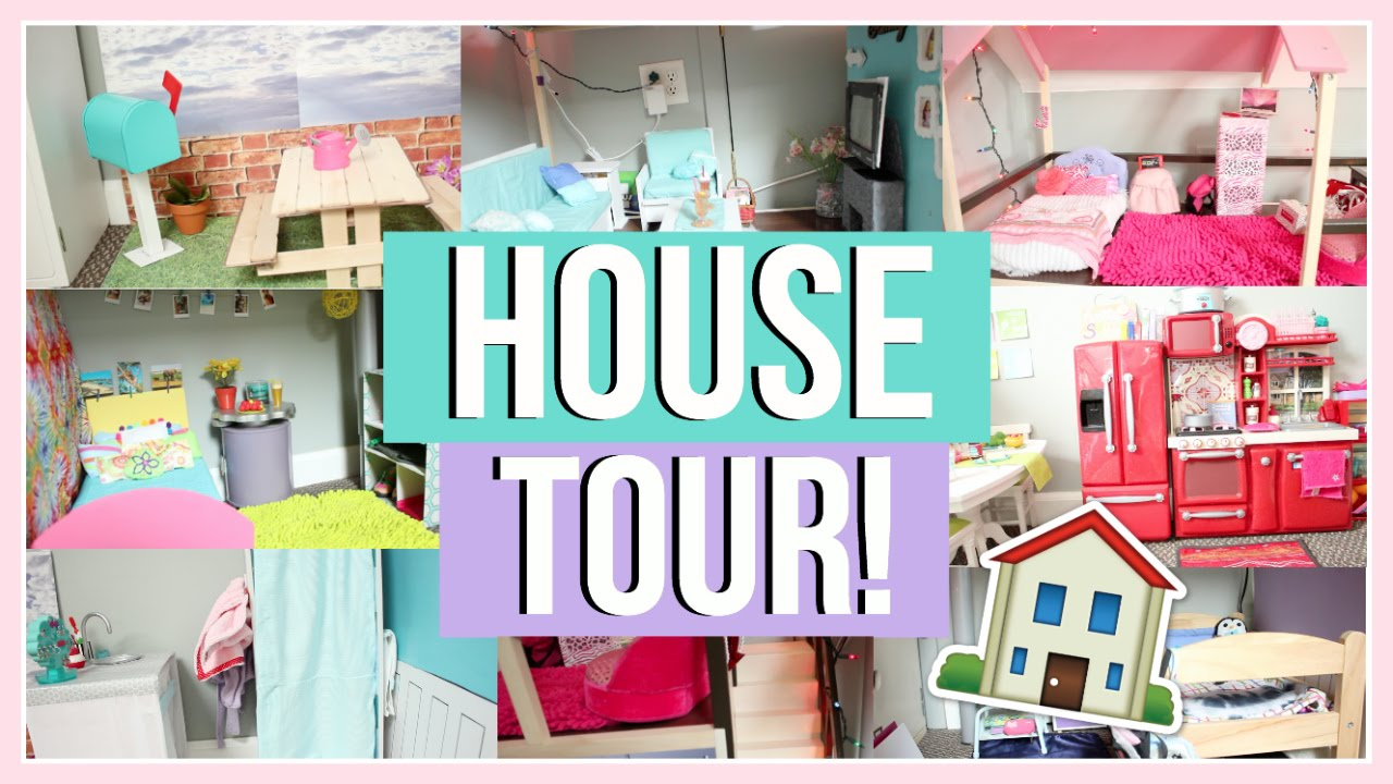 huge dollhouse tour! | american girl doll house tour 2016! - youtube