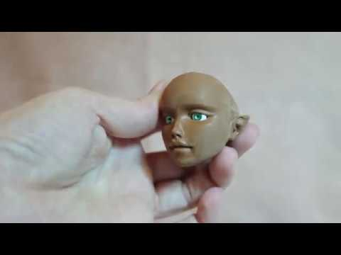 Cutting into a BJD Head - MakingFairies.com & SculptUniversity.com