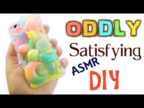 ASMR CRAFTING GALAXY PASTEL PHONE CASE ODDLY SATISFYING DIY  Slime Jelly stress relief tingles