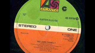 "SISTER SLEDGE - We Are Family 12"" version 1979"