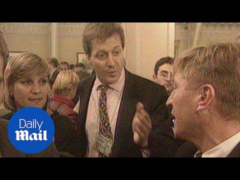 Anji Hunter stands by Campbell on the 1997 election trail - Daily Mail