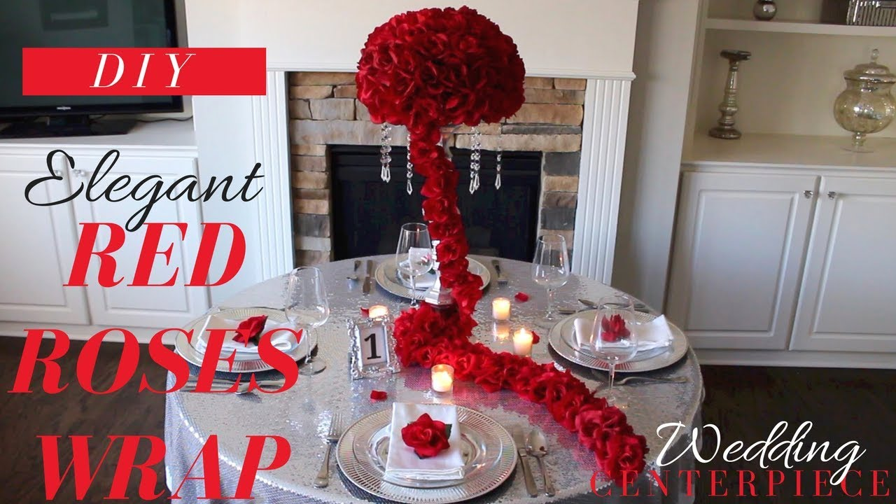 DIY WEDDING DECORATIONS | ***ELEGANT RED ROSES WRAP WEDDING ...