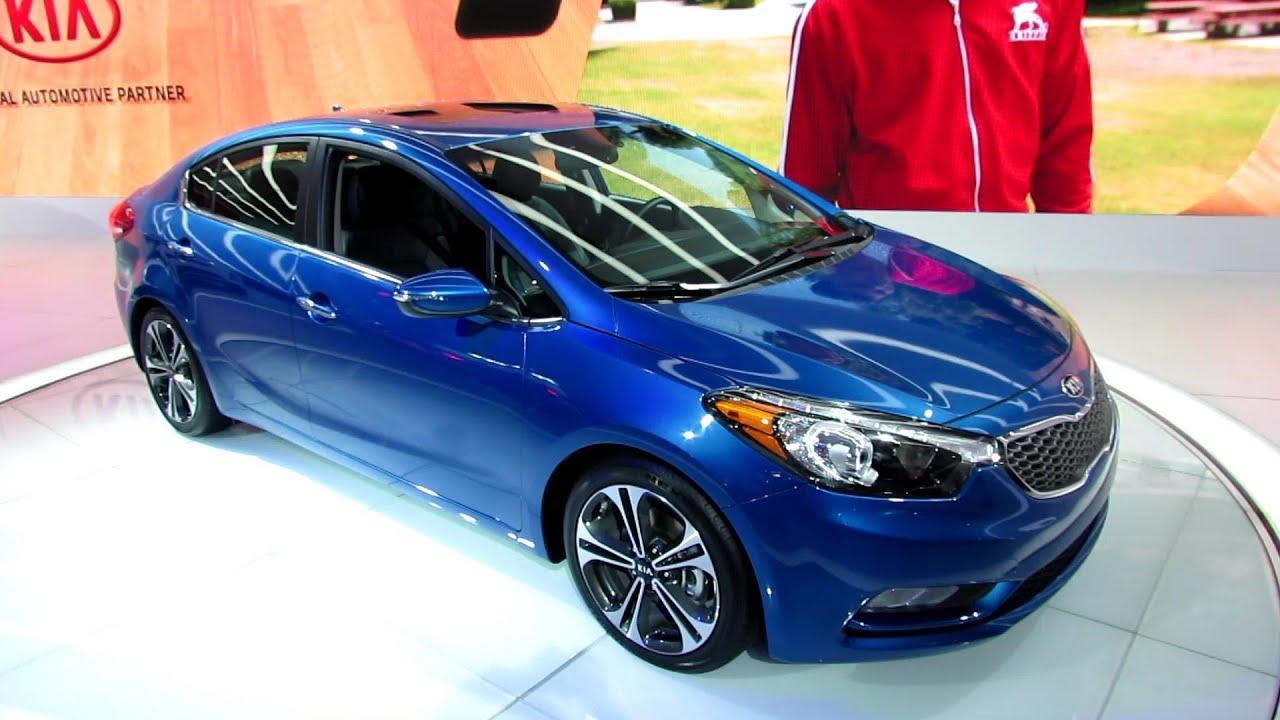 Kia Forte Hatchback >> 2014 KIA Forte EX-GDI- Exterior and Interior Walkaround - 2013 Detroit Auto Show - YouTube