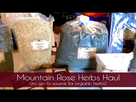 Mountain Rose Herbs Haul (my go-to source for organic herbs)