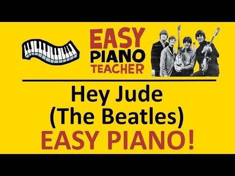 🎹 EASY piano: Hey Jude keyboard tutorial (The Beatles) by #EPT