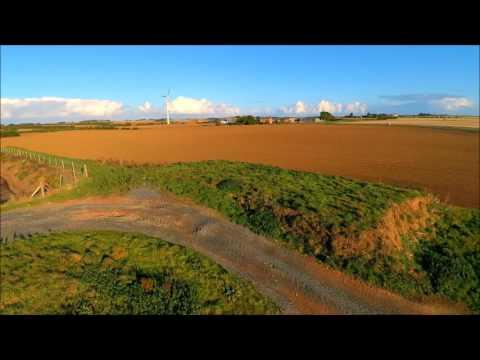 Drone over Easington, North Sea