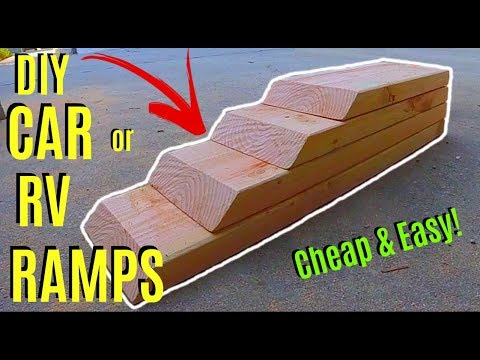 How To Make Easy DIY Car or RV Ramps -Jonny DIY