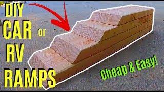 How To Make Easy DIY Car or RV Ramps -Jonny DIY