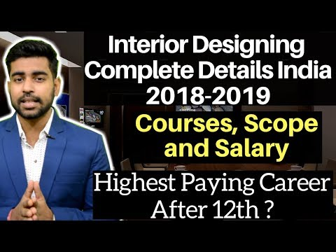 Career in Interior Designing India | Courses | Diploma | Scope | Salary | Best Career after 12th ?