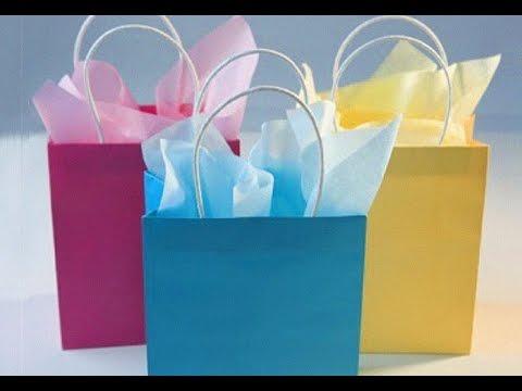 624d8fe87333 Как сделать из бумаги подарочный пакет сумочка и подарок легко своими рукам  Поделки с детьми!