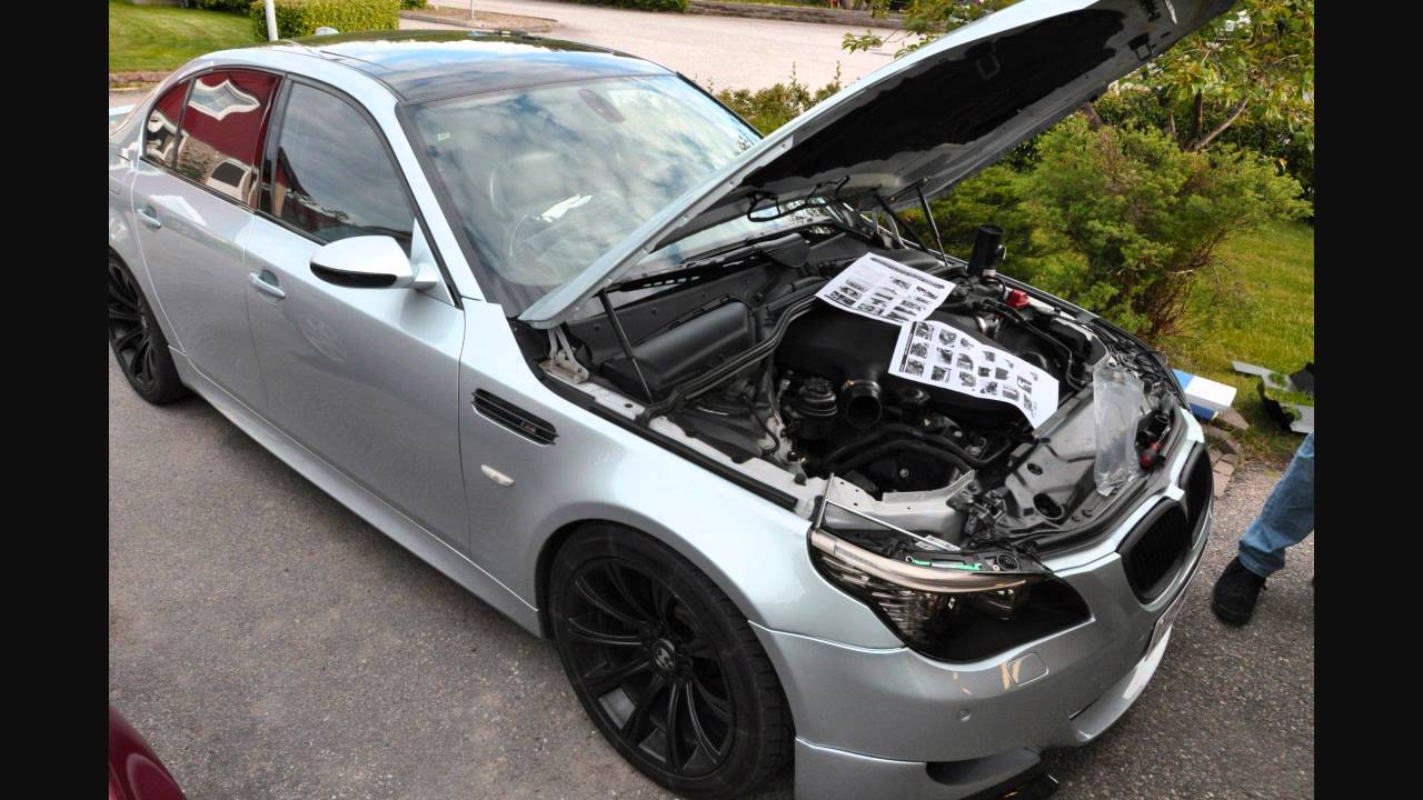 Installning K&N Typhoon Dual Air Intake System on BMW M5 ...