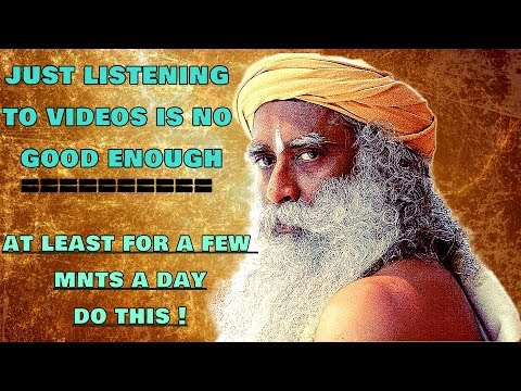 Sadhguru - Start The Practice Of De-linking The Intellect From The Memory!