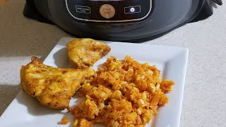 Ninja Foodi Spanish Rice & Boneless Chicken Breast same time also Broil CookingwithDoug Style