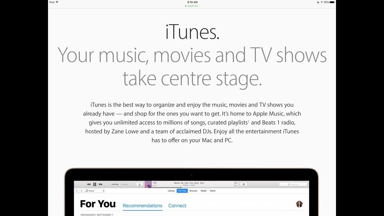 Itunes on macbook
