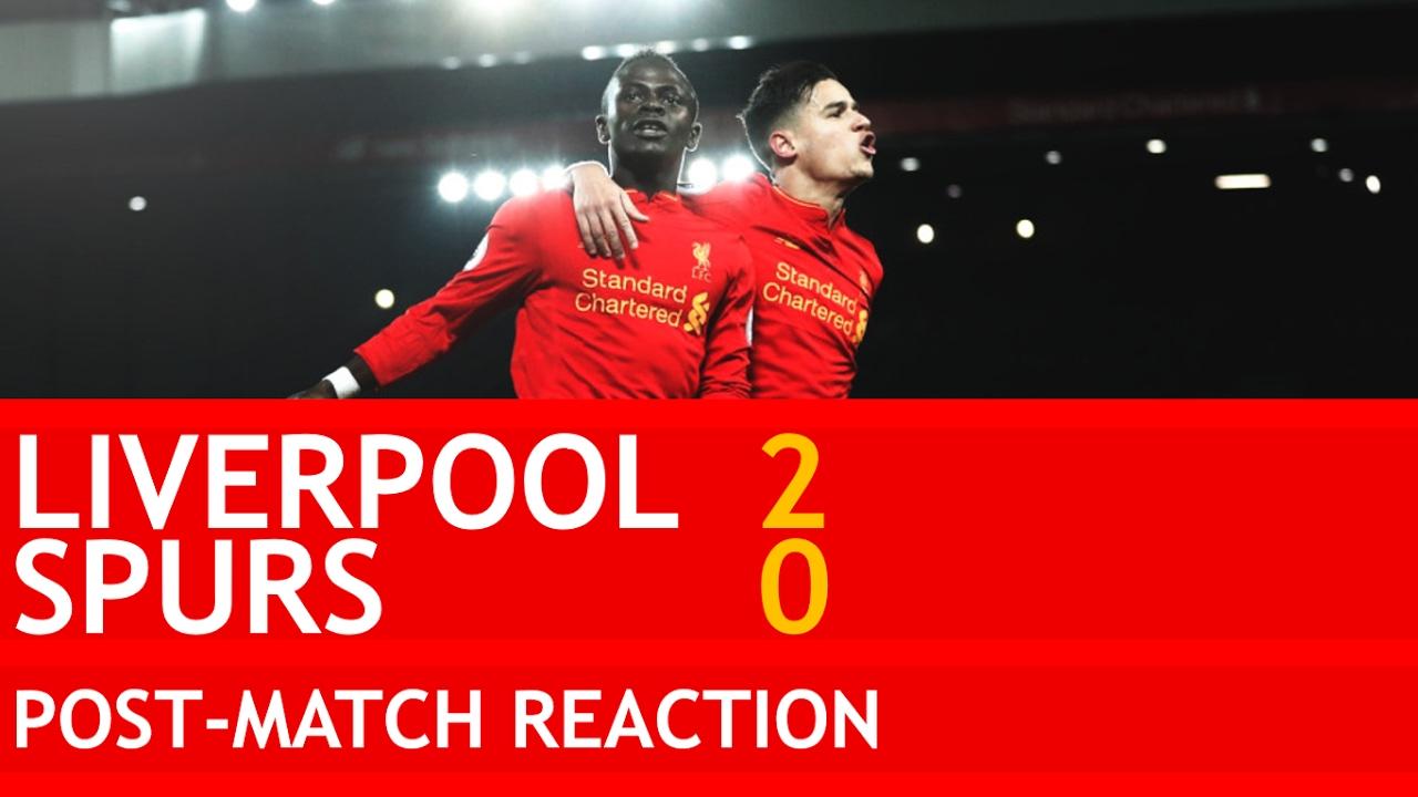 Mane Was Running Riot Liverpool Vs Tottenham 2 0 Post Match Reaction Youtube