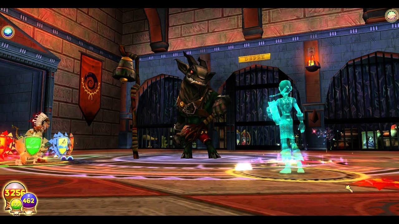 Wizard 101 KRAMPUS spell! (4 pip fire spell from lore master)