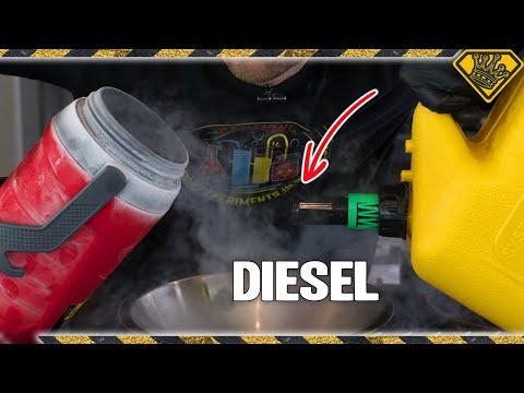 Pouring Diesel in Liquid Nitrogen