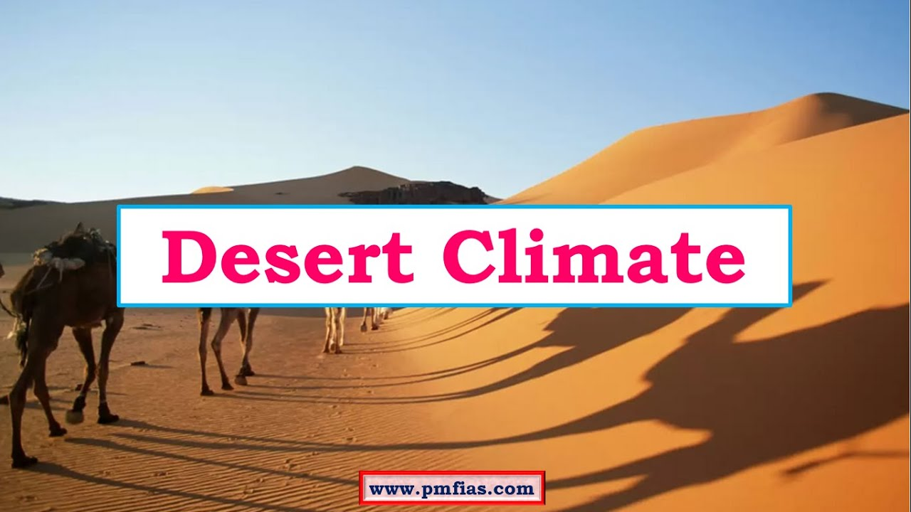 climate in the desert To start off with, i would like to say that there are 4 different types of deserts there are the hot and dry desert, the semiarid desert, the coastal desert, and the cold desert.