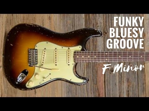 Funky Bluesy Groove   Guitar Backing Track Jam in F Minor