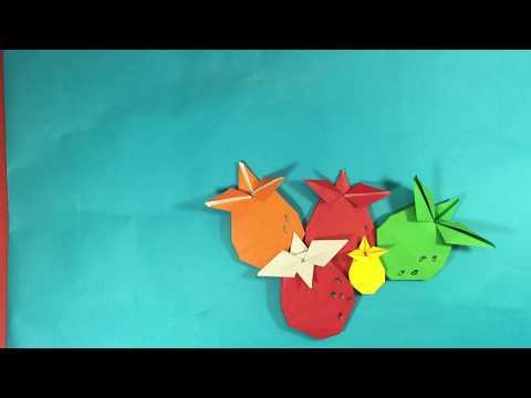 strawberry paper folding, Origami fun paper art