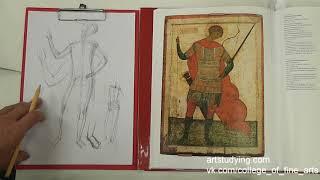 Рисунок для иконописцев. Разбор фигуры. вмч Георгий