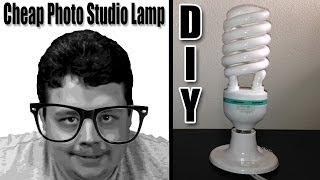 How to make studio lights at home for cheap to improve your YouTube videos! DIY