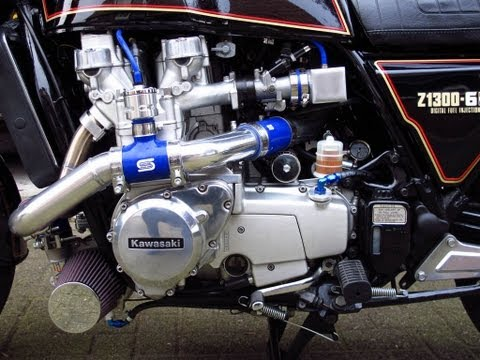 Kawasaki KZ1300 fuel injected Turbo project - YouTube