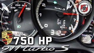Porsche 911 TURBO S 750 HP ACCELERATION 0-312 km/h PP Performance by AutoTopNL
