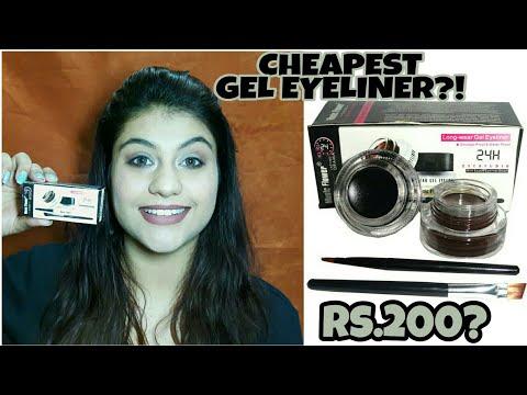 Cheapest & Best Gel Eyeliner In India | MUSIC FLOWER GEL EYELINER REVIEW || thatsosnneha