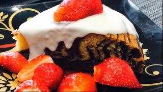 Пирог зебра.Бисквитный пирог,быстрый рецепт пирога.Как приготовить бисквит, готовим дома с Максом