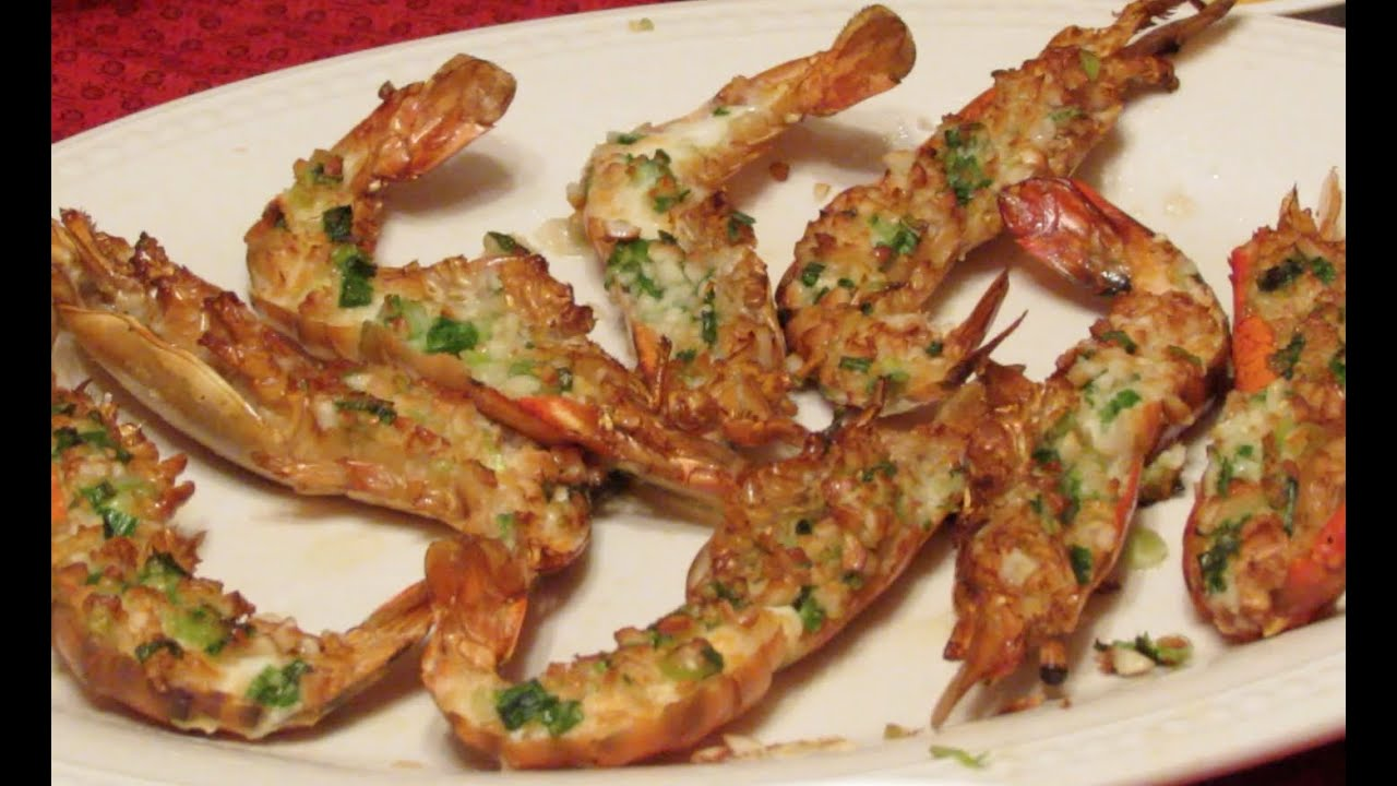 Plank Road Garlic Butter Prawns recipe - YouTube