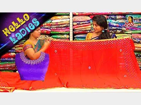 Grand Look Pure Chiffon Crepe Saree & Linen Silk Saree || Hello Ladies || Vanitha TV