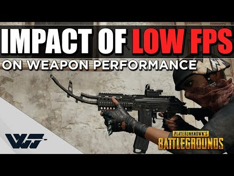 How LOW FPS will CHANGE how your weapons shoot - Important info - PUBG