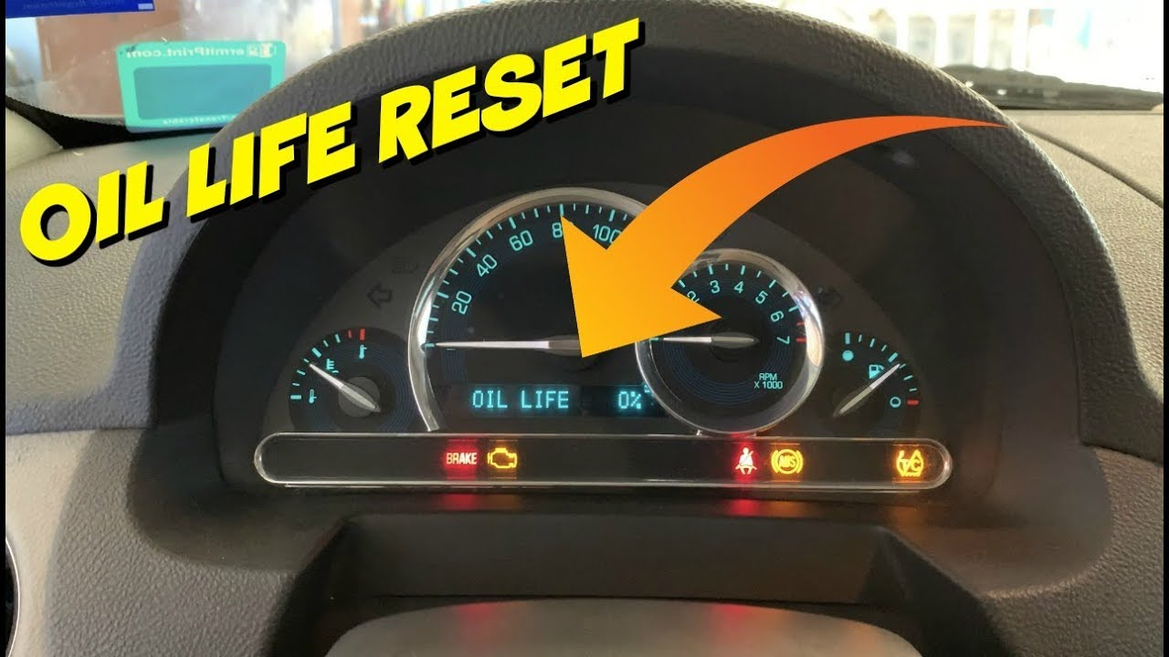 Chevy Hhr Engine Oil Life Reset Fast Youtube