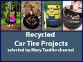 Tire DIY Crafts Ideas - Recycled Tire Projects - Recycling Tyres Ideas