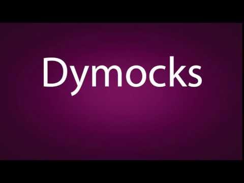 How to pronounce Dymocks
