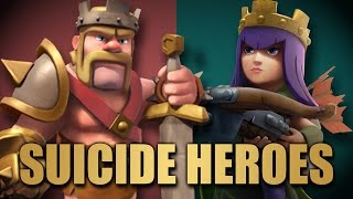 Suicide Heroes Strategy   Lavaloon Killsquad By Only Heroes   Clash Of Clans