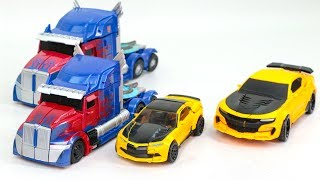 Transformers 5 TLK KO OverSized Bumblebee Optimus Prime Truck Vehicles Robots Car Toys