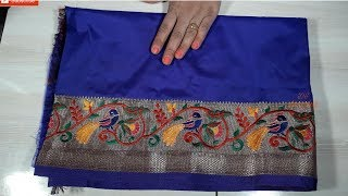new paithani saree blouse  back neck pattern saree blouse design