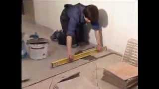 Укладка керамической плитки на пол своими руками.(, 2013-10-20T07:20:37.000Z)