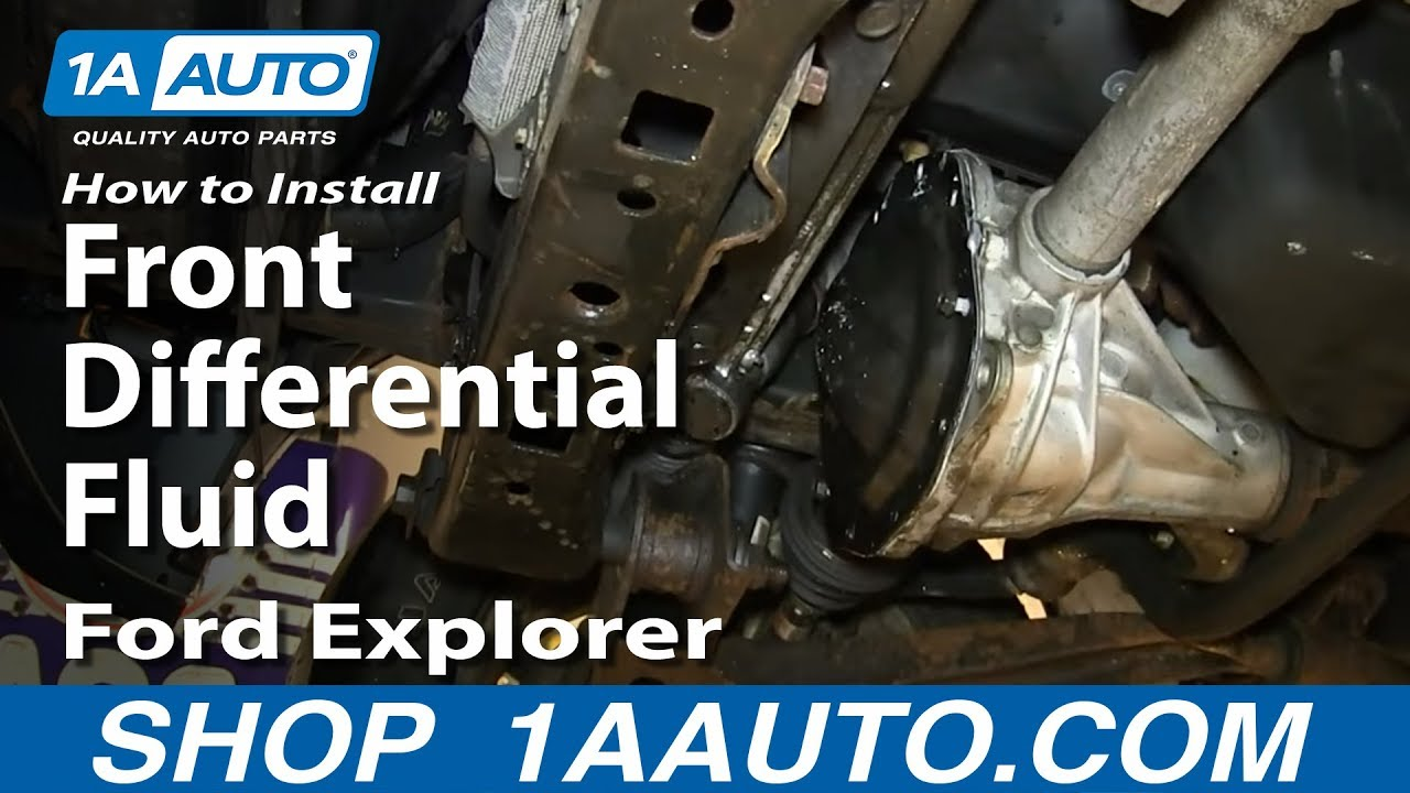 How To Change Front Differential Fluid 2002 05 Ford