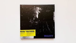 A Historic Unboxing of TAEMIN 태민 2nd Mini Album WANT (Want Ver)