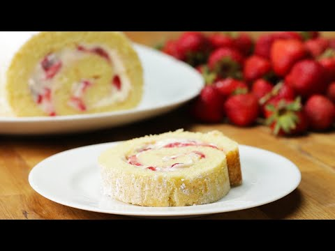 Download Youtube: Strawberry Cheesecake Cake Roll
