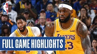 ... led by anthony davis (22 pts, 10 reb) and lebron james (15 8 ast) the los angeles lakers defe...