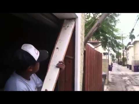 How to repair a termite damaged garage door jamb part 4 of 5  YouTube