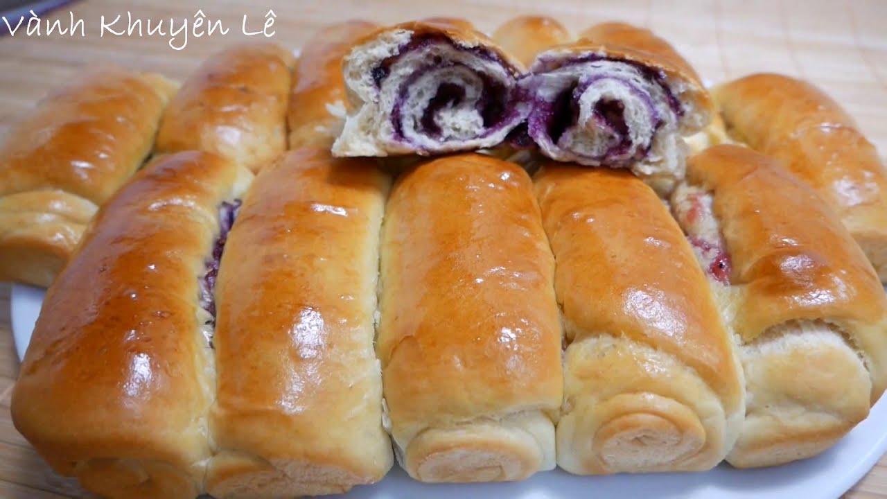 BÁNH MÌ NGỌT / BÁNH MÌ BƠ SỮA – Cách làm Bánh Mì ngọt nhân Mứt mềm thơm Bơ Sữa by Vanh Khuyen