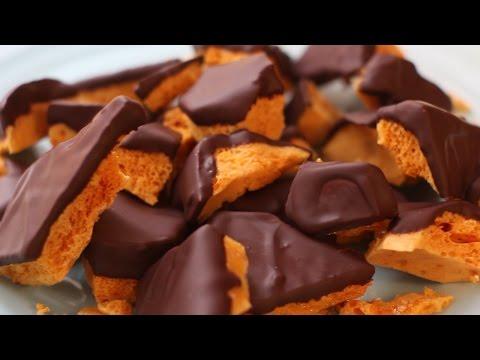 Sponge Toffee covered in Dark Chocolate | Julie Nolke
